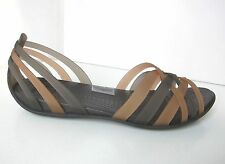 Crocs huarache flat sandals Ballerina braun 36 37 W 6 shoes brown bronze sandale