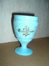 alter Becher Pokal Pressglas Erinnerung Biedermeier Milchglas Opalglas (6)
