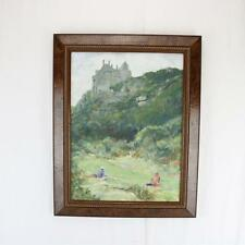 Original Painting, Exotic French Castle Painting Imressionist Framed