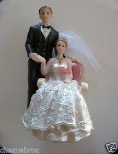 Sujet figurine pour gâteau ou pièce montée Mariage ref NAB35-B