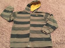euc QUIKSILVER Olive Forest Green zip up HOODIE Hooded Sweatshirt BOYS M med 6