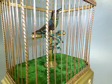 1890 Antique French Singing Bird Cage Music Box Automaton Taxidermy Hummingbird