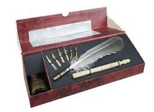 Calligraphy Feather Pen Set with Stylus & Ink