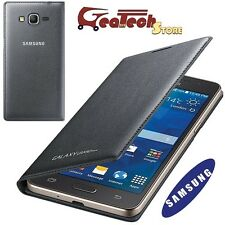 Custodia Flip Wallet Originale Samsung per Galaxy Grand Prime G530F Cover Nera