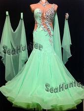 Ballroom Bright Green Cocktail Standard  Waltz tango Prom US8 Dance Dress #B2840