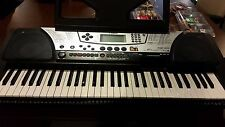 Yamaha PSR-340 Keyboard Synthesizer, Power Supply, and Sustain Pedal