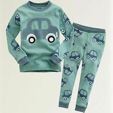 "Vaenait Baby Infact Clothes Toddler Kids Sleepwear Pajama ""Mini Car"" XS(12-24M)"