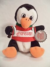 Plush Coca Cola Penguin Hockey Shirt Coke Bean Bag Style 263 1999 North Pole
