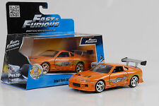 Brian's Toyota Supra Movie Fast and & Furious orange 1:32 jada