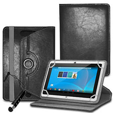 """For 10"""" 10.1 Android Tablet Tab-360° Universal Designer Leather Case Folio Cover"""