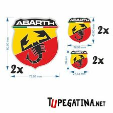 6X PEGATINAS DECAL STICKERS ABARTH