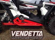 2017 2016 2015 2014 Polaris RZR XP 1000 & Turbo Rock Slider Rockers W/ Tube Red