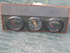 VDO CLOCK  Vintage Center Dash Gauge Switch Panel 60's E Type MK II Smiths Lucas