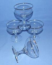 Vintage Crystal Champagne/Sherbet Glasses - Platinum Trim - Set of 4