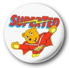 "Superted  25mm 1"" Button Badge - Kids Retro TV Nostalgia 80's Novelty"