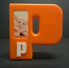 "Tyco SESAME STREET red PIG alphabet letter P (3"") REPLACEMENT plastic block"