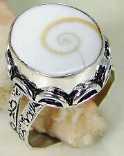 Shiva Eye & 925 Silver Handmade Fashionable Ring Size R G82-34199