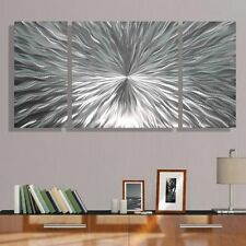 Modern Abstract Silver Metal Wall Art Home Decor - Enlivenment III by Jon Allen