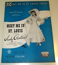 Vintage Judy Garland actress sheet music Meet Me In St Louis movie classic Lot C