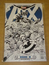 AVENGERS VS X-MEN ROUND 10 MARVEL VARIANT EDITION AVX BLUE SKETCH COVER