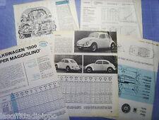 QUATTROR967-PROVA SU STRADA/ROAD TEST-1967- VOLKSWAGEN 1500 - 5 fogli