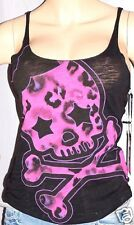 "ABBEY DAWN BY AVRIL LAVIGNE ""LEOPARD BOWSKULLY TANK"" LADIES TEE SIZE XS"