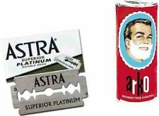 Astra Razor Blades Double Edge Pack of 100 & ARKO Shaving Soap FREE UK DELIVERY