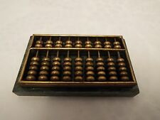 Vintage Mini Brass Abacus on Green Marble Base