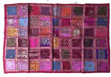 Indian Wallhanging Tapestry Patchwork Ethnic Sari Work Traditional Home Decor.