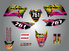 Kawasaki KLX 110  -  2011 - 2016 Full Custom Graphic Kit NEON style stickers