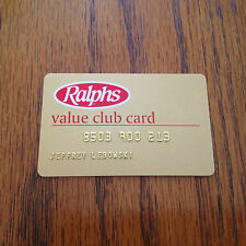 The Dude's ID Ralphs Club Card from The Big Lebowski Movie Prop Replica
