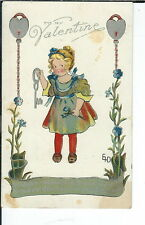 AX-180 - Valentine, Artist Signed by EHD, 1907-1915 Golden Age Postcard