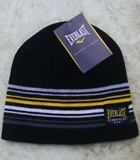 Everlast Black Badge Beanie Hat & Gloves Set BNWT New Boxing Training Running