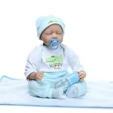 "Hot Reborn Toy Doll+ Clothes 22""  Newborn Handmade Lifelike Baby Silicone Vinyl"