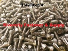 (50) 1/4-20x3/4 Socket Allen Head Cap Screw Stainless Steel 1/4 x 3/4