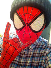 Spider-Man 2 Mask 3D Digital Printing Red Hood Stunning Amazing Spiderman Props