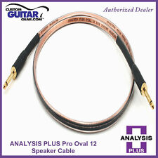 Analysis Plus Pro Oval 12 Guitar / Bass Amp Speaker cable, 3FT straight/angle
