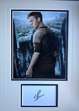 WILL POULTER - THE MAZE RUNNER - POPULAR ACTOR - SIGNED COLOUR PHOTO DISPLAY