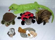 LOT SET OF 5 LIZARD TURTLE LADY BUG HAND PUPPETS VARIOUS BRANDS SOFT PLAY TOYS
