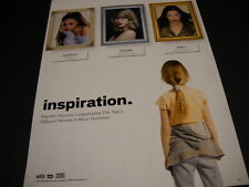 TAYLOR SWIFT Jessie J ARIANA GRANDE are INSPIRATION 2014 Promo Poster Ad