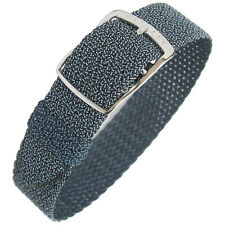 16mm EULIT Panama Blue Tropic Woven Nylon Perlon German Made Watch Band Strap