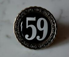 Fifty Nine 59 The 9 Metal Pin with 3D sticker Badge Abzeichen Rockers cafe racer