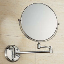 Foldable /Height-adjustable Wall Mounted Mirror 360-degree Swivel Function
