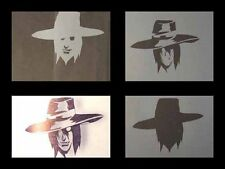 Airbrush Schablone Step by Step 334 Hellsing Alucard