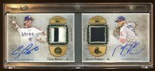 CRAIG BIGGIO / DUSTIN PEDROIA DUAL AUTO #D 10/10 PATCH LOGO BOOKLET  BEAUTIFUL !