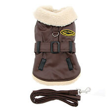 M DOG COAT westie boston bichon mini dachshund DOG BOMBER JACKET & LEASH SET