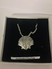 Sea Shell PP-G24  Emblem on Silver Platinum Plated Necklace 18""