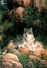 "Larry Fanning ""Soul Mates"" - Gray Wolves - Limited Edition Lithograph"