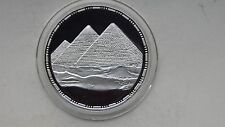 1993 Egypt 5 Pounds Pyramids Silver Proof coin