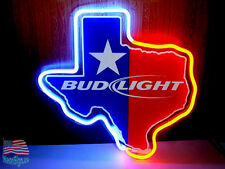 """Bud Light Texas Lone Star Beer Neon Sign 14""""x10"""" From USA"""